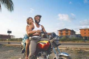 Comic Rapper Falz and Simi Loved Up On A Bike In New Photo